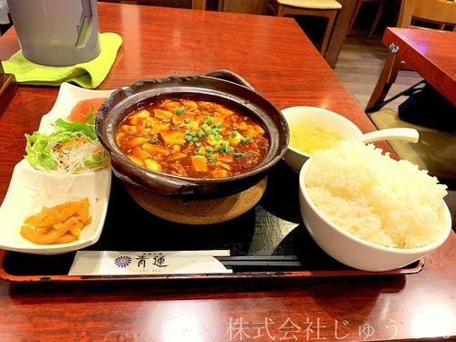 日吉でランチ、中華料理屋さん青蓮さんの麻婆豆腐ランチ おすすめ