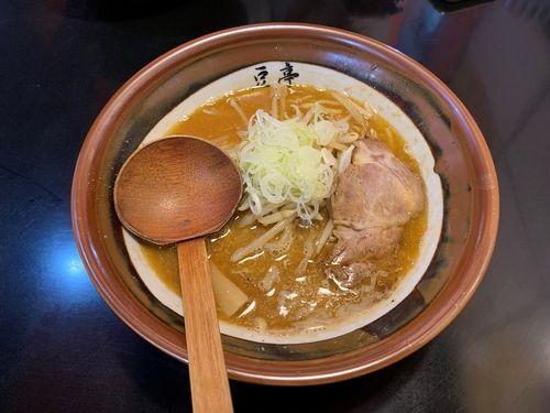 港北区高田の豆亭の味噌ラーメン