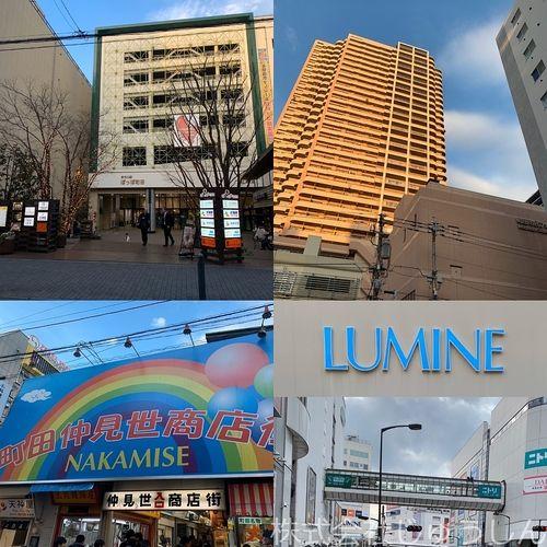 ルミネ、東急、ハンズ、マルイ、小田急、西友、タワーマンション、商店街