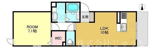 東横線元住吉の新築賃貸物件の1LDKの間取り